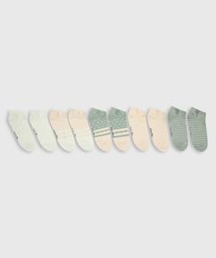 5 paar Sokken trainerliners, Wit
