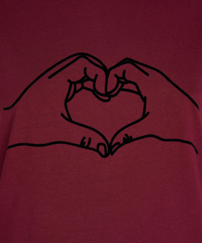 Chemise de nuit à encolure arrondie, Rouge, main