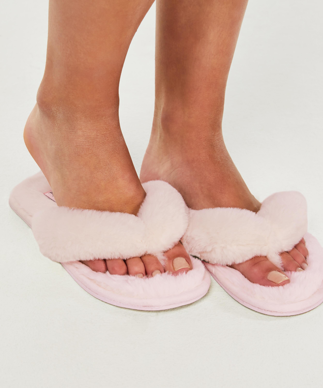 Slippers Fake Fur, Roze, main