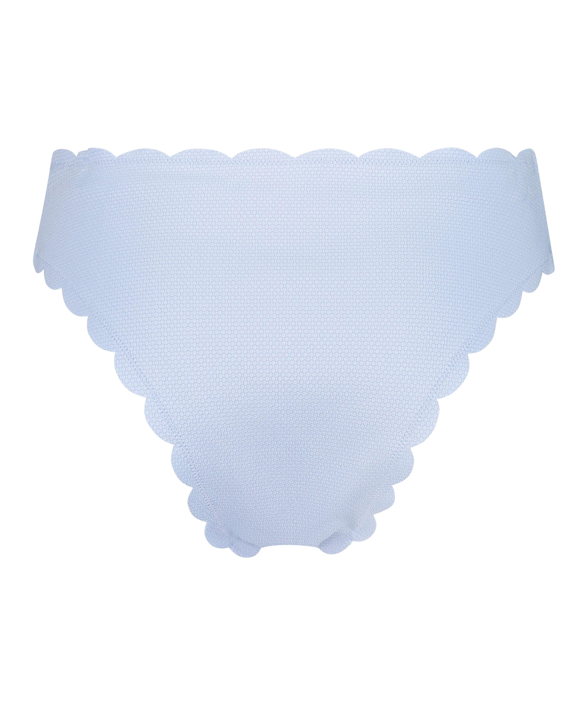 Hoog uitgesneden bikinibroekje Scallop, Blauw, main