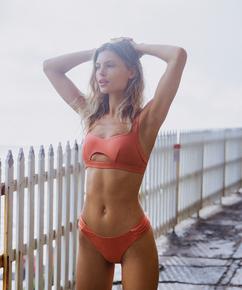 Hoog uitgesneden bikinibroekje Bonita, Oranje