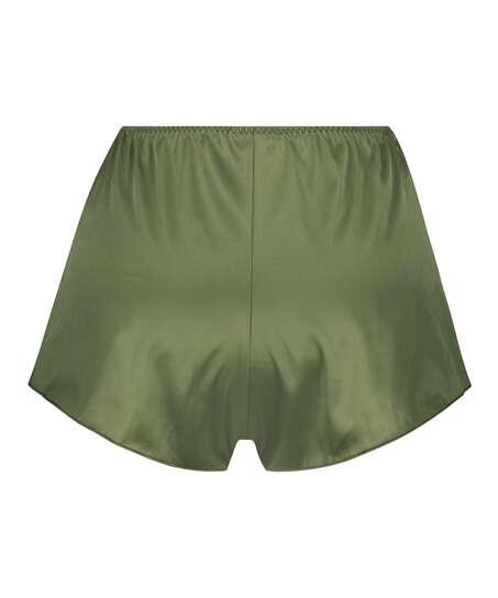 Shorts Satijn Amelia Tap, Groen