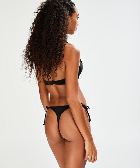 String bikinibroekje Sunset Dream, Zwart