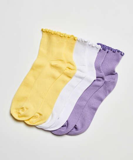 3 paar sokken It's Popping, Blauw
