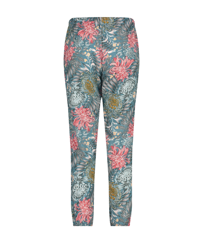 Tall Pyjamabroek Woven, Groen, main