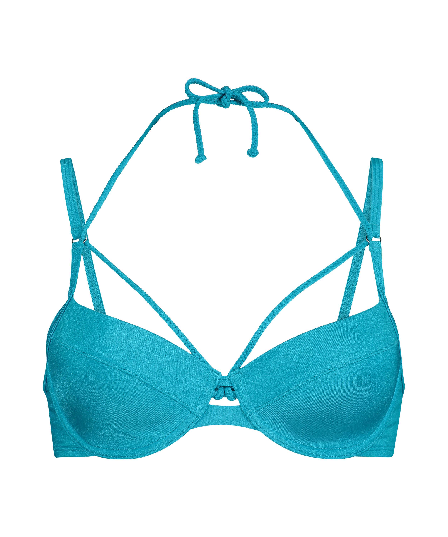 Haut de bikini à armatures non préformé Celine, Bleu, main