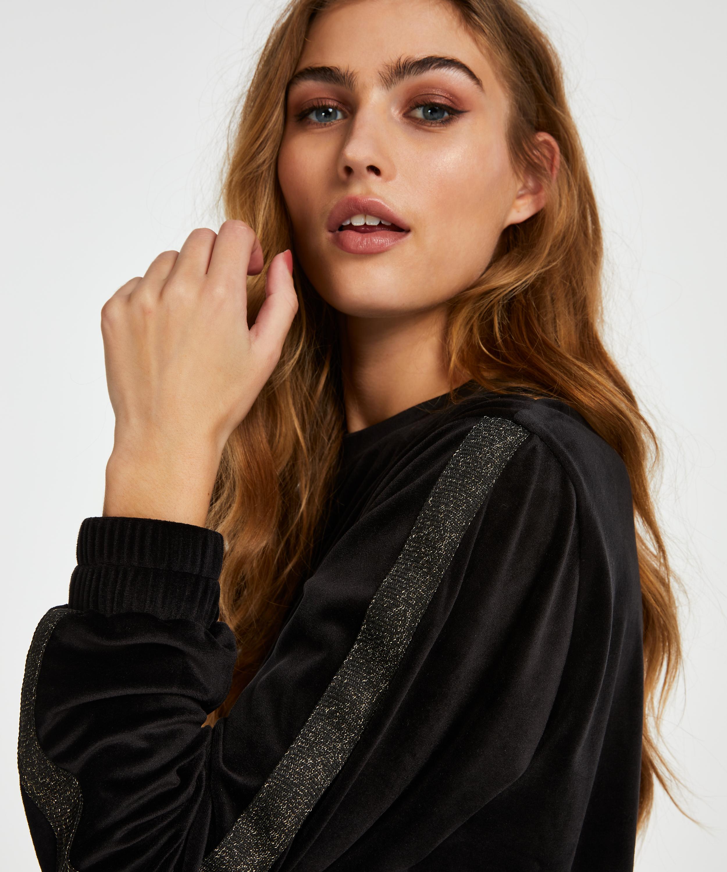 Haut velours Shimmer, Noir, main