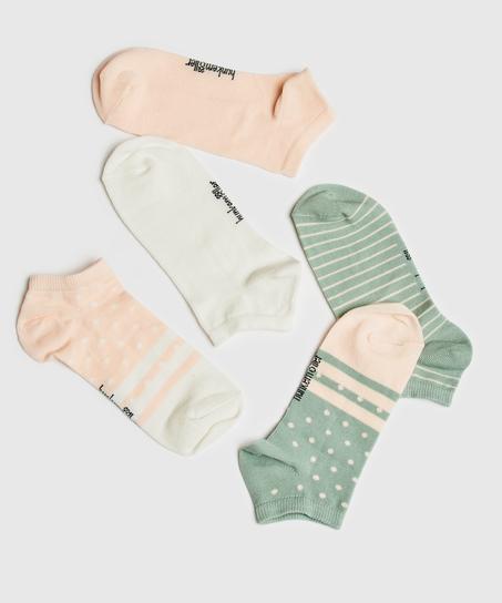 5 paires de chaussettes trainerliners, Blanc