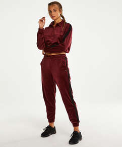 Pantalon de sport Velours HKMX, Rouge