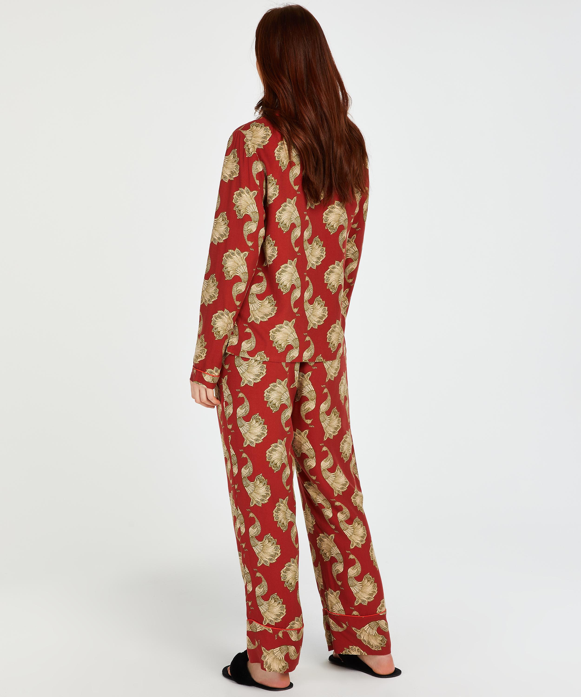 Haut de pyjama à manches longues Dragonfly, Rose, main