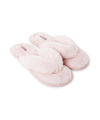 Slippers Fake Fur, Roze