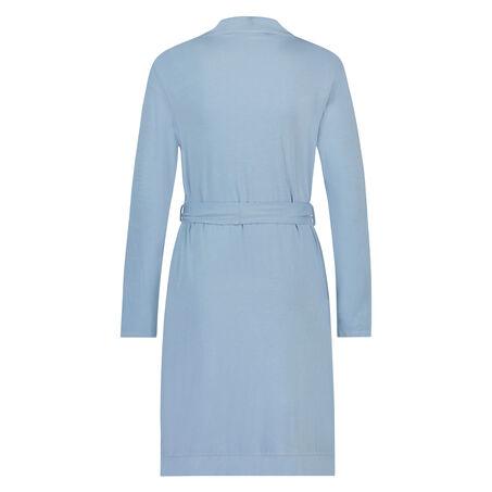 Peignoir Modal Lace, Bleu