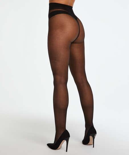 Panty 15 Denier Anti-Ladder, Zwart