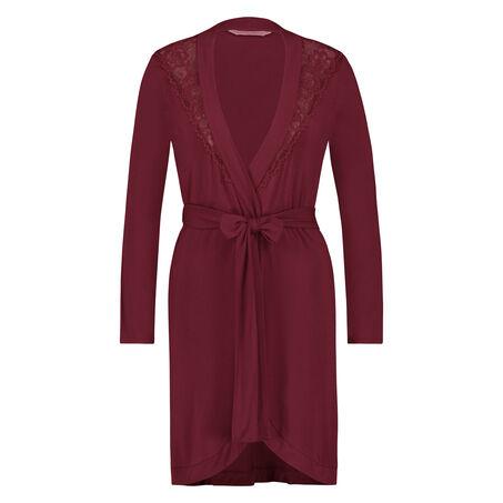Peignoir Modal Lace, Rouge
