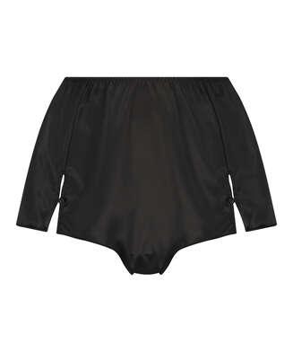 Shorts Satijn Amelia Tap, Zwart