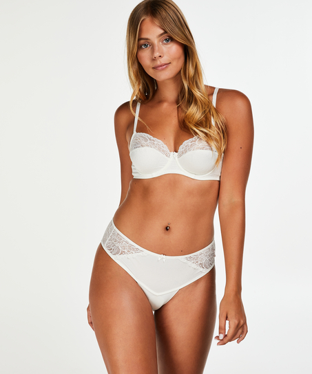 Boxer string Sophie, Blanc