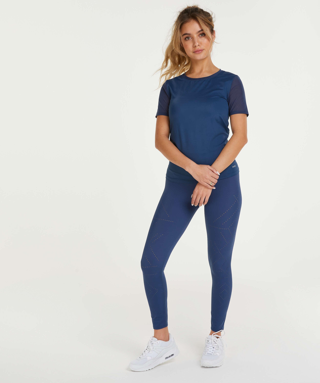 T-shirt de sport HKMX Dos échancré, Bleu, main