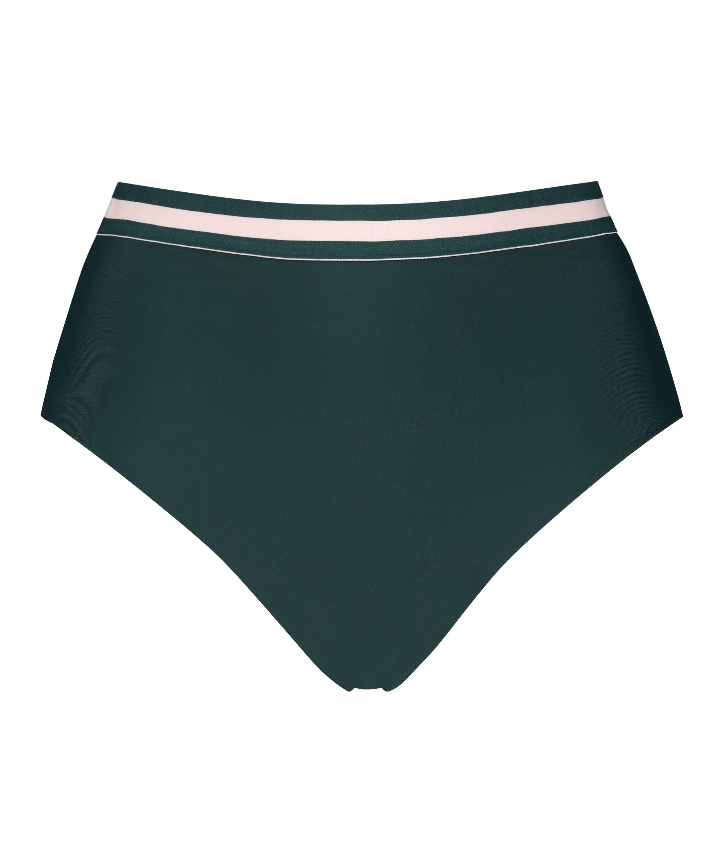 Bas de bikini taille haute effronté Pinewood, Vert, main