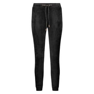 Petite Pantalon de jogging Velours Lurex, Noir