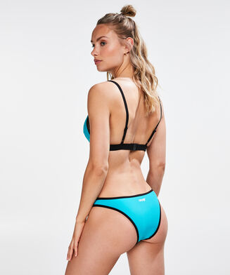 HKMX triangle bikinitop colour block, Blauw