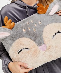 Coussin Renne, Gris