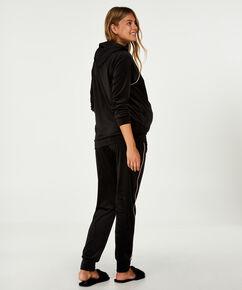 Pantalon de grossesse Velours, Noir
