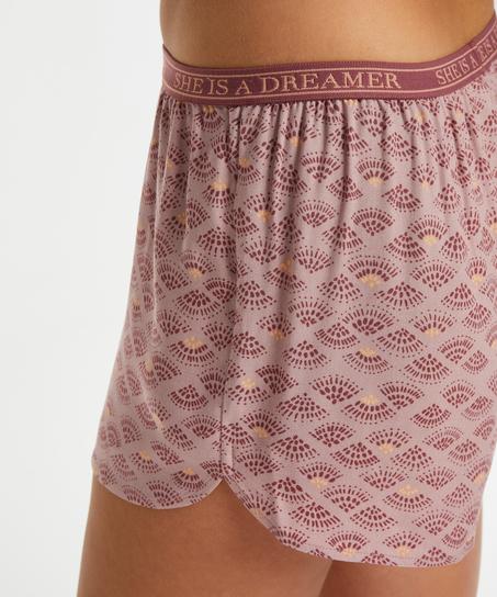 Short de pijama, Rose