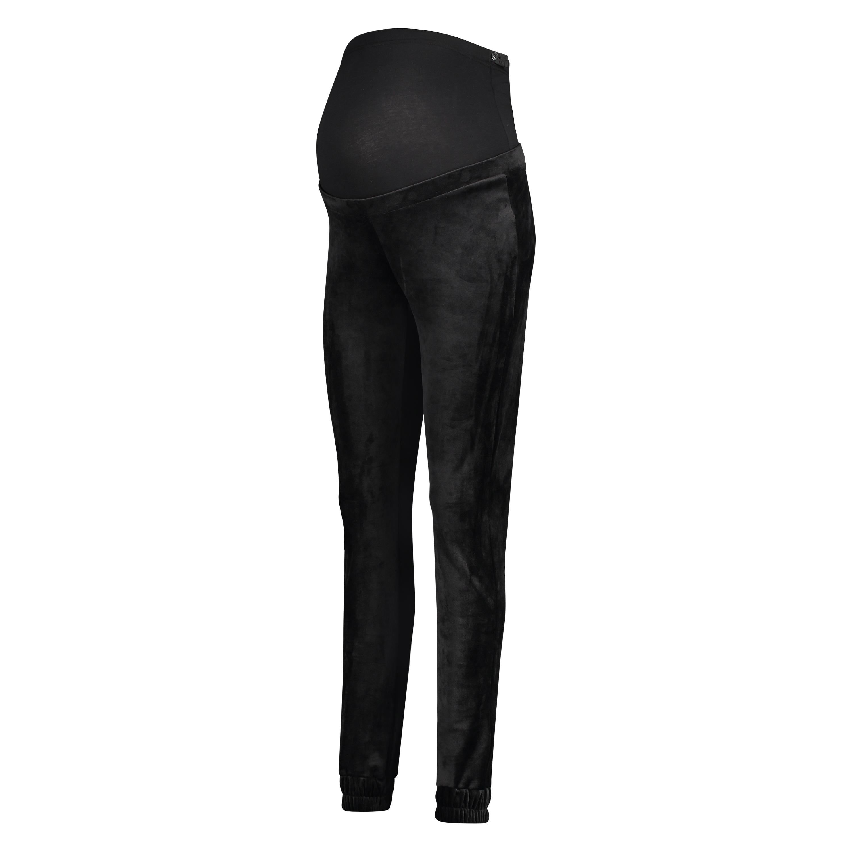 Pantalons de survêtement de maternité en velours Shimmer, Noir, main