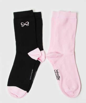 2 paar sokken Bow, Zwart