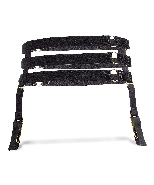 Private suspender cuffs, Zwart, main