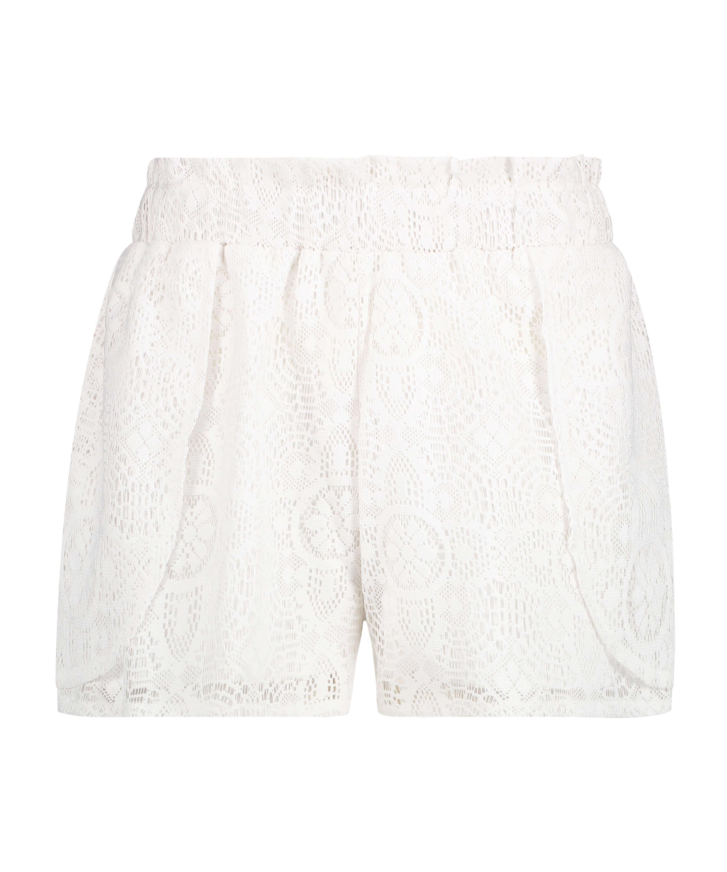 Short en dentelle, Blanc, main