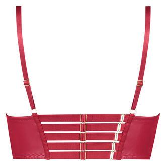 Voorgevormde longline push-up beugel bh Kennedy, Rood