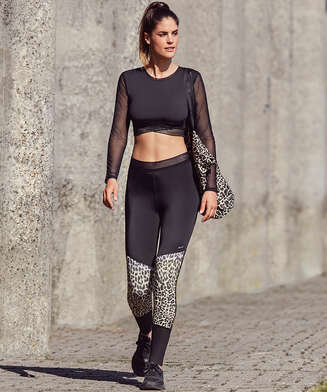 HKMX High waisted sportlegging Luipaard, Grijs