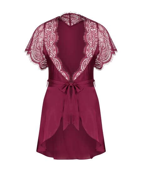 Kimono Cap Sleeve, Rood
