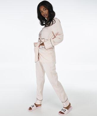 Pantalon de pyjama Satin Bow, Rose