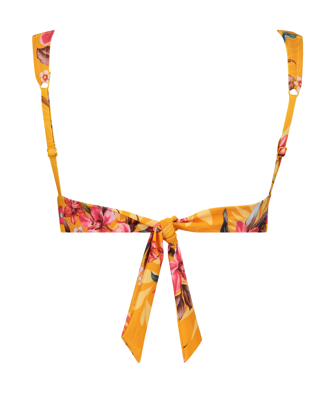 Haut de bikini triangle Orchid, Jaune, main