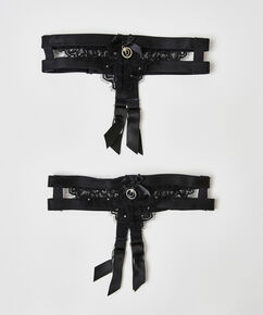Suspender cuffs Doutzen, Zwart
