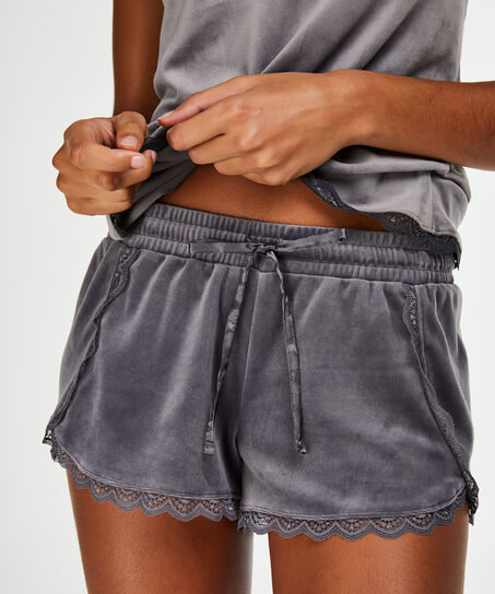 Short Velours Lace, Gris