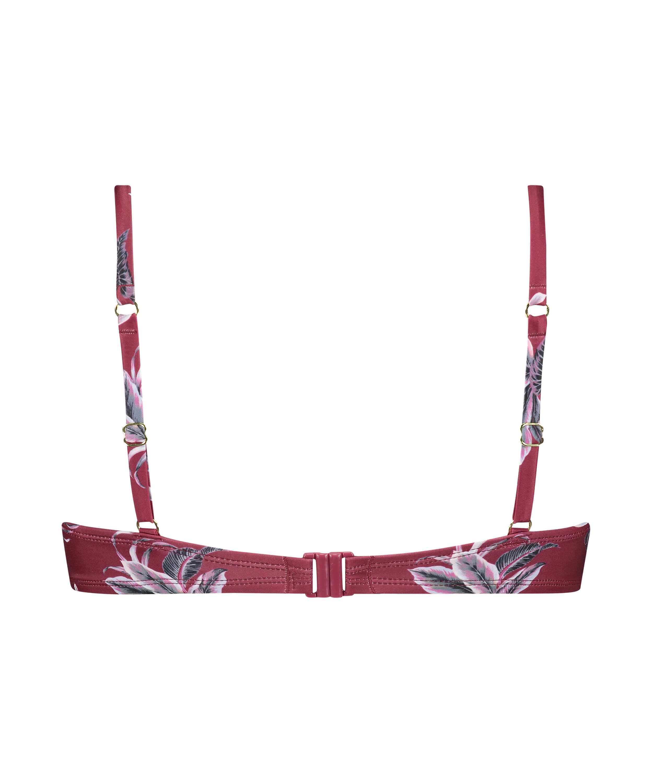 Voorgevormde beugel bikinitop Tropic glam, Rood, main