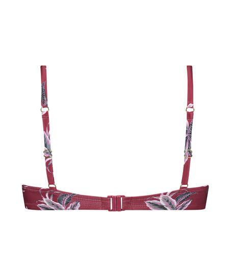 Voorgevormde beugel bikinitop Tropic glam, Rood