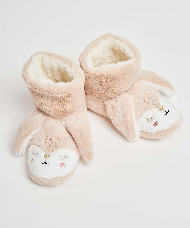 Pantoffels Konijn, Beige, main