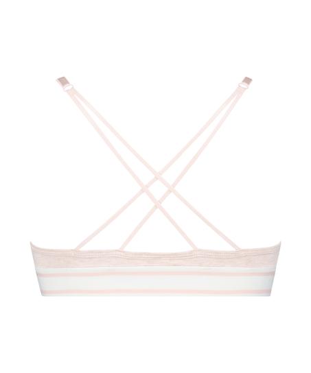 Voorgevormde triangle bralette Casey katoen, Roze