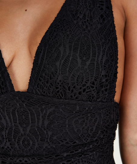 Badpak Crochet, Zwart