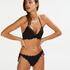 Voorgevormde push-up beugel bikinitop Scallop Cup A - E, Zwart