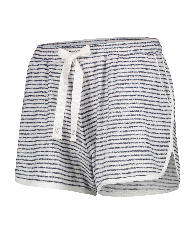Korte pyjamabroek Brushed Stripe, Grijs, main