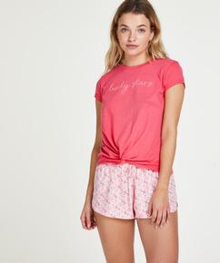 Korte pyjamabroek Lucky, Paars