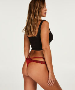 String taille basse Sanaa, Rouge