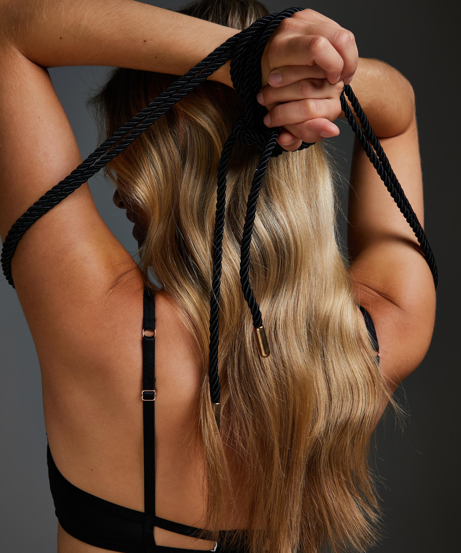 Body Bondage touw, Zwart, main