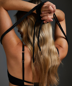 Body Bondage touw, Zwart
