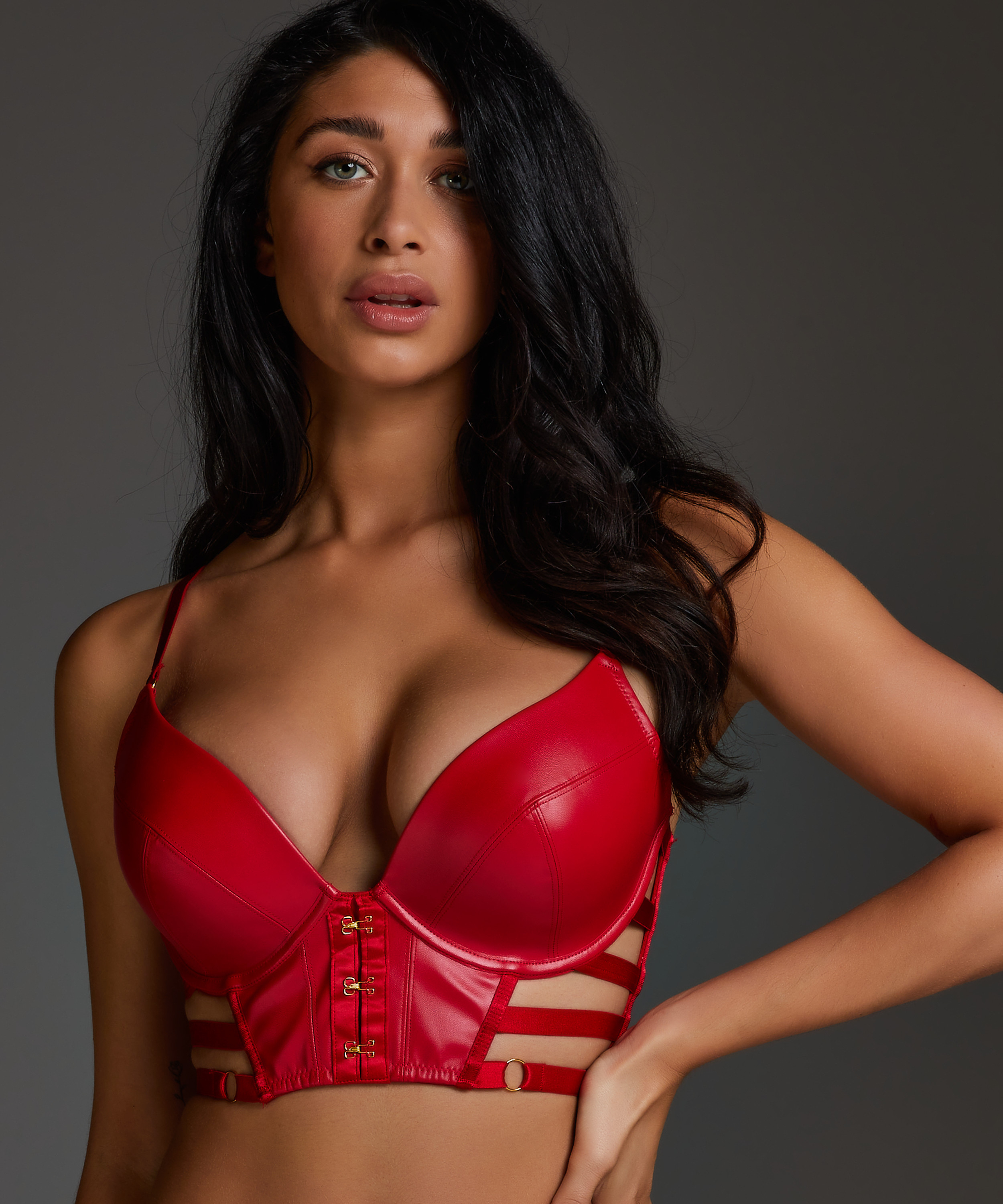 Voorgevormde push up beugel bh Vicky, Rood, main
